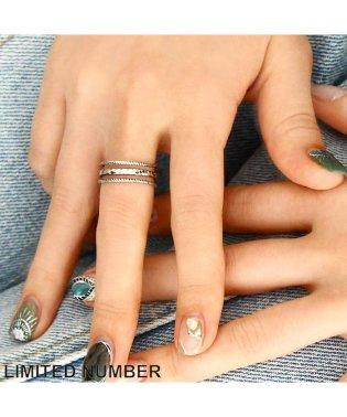 【LIMITED NUMBER】リング ニッケルフリー テクスチャー 3連風 13号 指輪[お世話や][osewaya]