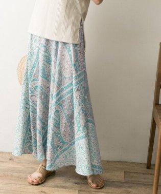 パネルペイズリープリントスカート