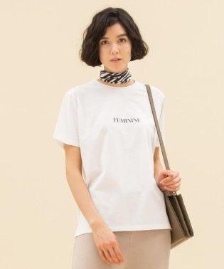 【洗える】MONOTONE LOGO PRINT Tシャツ