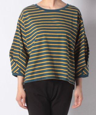 【ITEMS】ドロップショルダーボーダーロングスリーブTシャツ