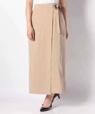 【Omekashi】ラップツイルロングスカート