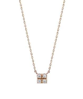 K10 ダイヤモンド スクエアネックレス(PG)