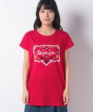 刺繍プリント半袖Tシャツ・カットソー