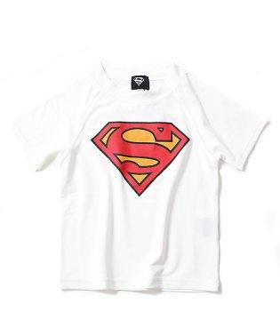 SUPERMAN ロゴプリント ラッシュガード 水着