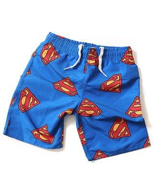 SUPERMAN ロゴプリント サーフパンツ 水着