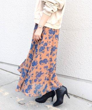 Khaju:プリントギャザースカート
