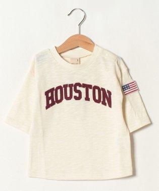 ロゴアップリケ七分袖Tシャツ