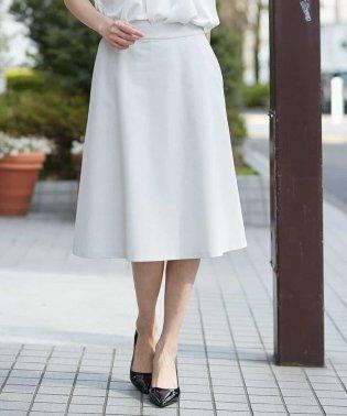 【セットアップ対応/洗える】メッシュトリコフレアスカート
