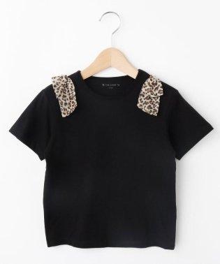 【100cm~140cm】花柄リボンTシャツ