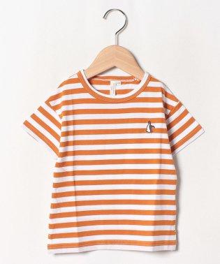 ペンギン刺繍ドロップTシャツ