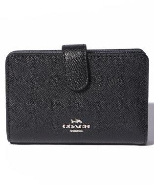 COACH OUTLET F11484 SV/BK 2つ折り財布