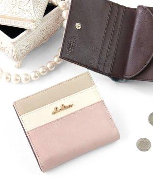 財布 レディース 二つ折り トリコロール 薄い スリム 二つ折り財布