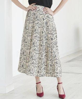 選べる2type小花柄ロングスカート