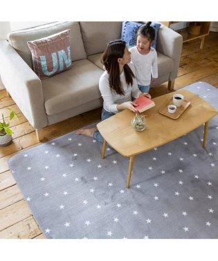 ラグ マイクロ 185x185cm STAR ネイビー