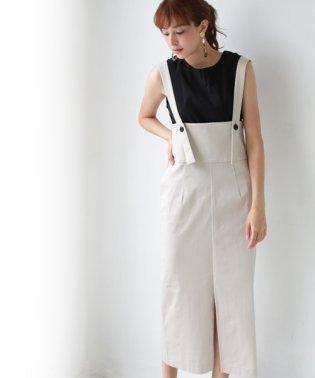 2wayハイウエストジャンパースカート