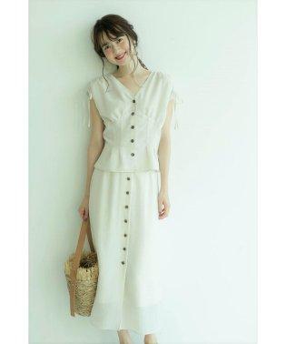 【セットアップ対応商品】フロント釦スカート