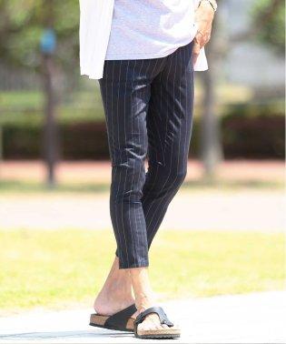 TRストレッチアンクルスラックス / スラックス メンズ アンクルパンツ クロップド 9分丈 パンツ スリム