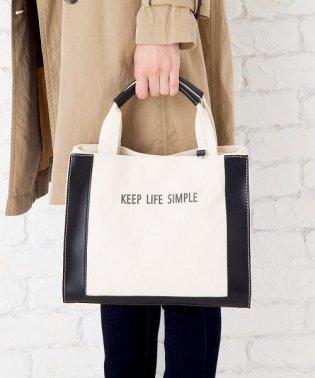 【2way】ロゴ配色キャンバスハンドバッグ