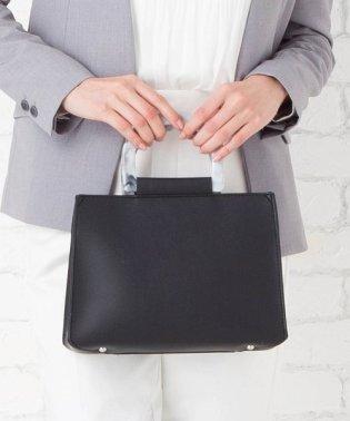 【2way】プレーンな大理石調リングデザインハンドバッグ