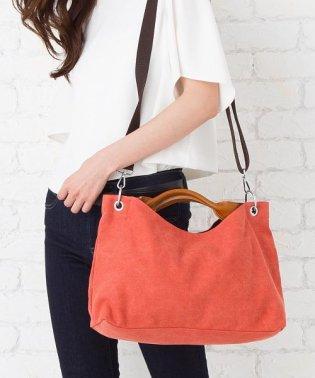 【2way】くったり素材のワイドハンドバッグ
