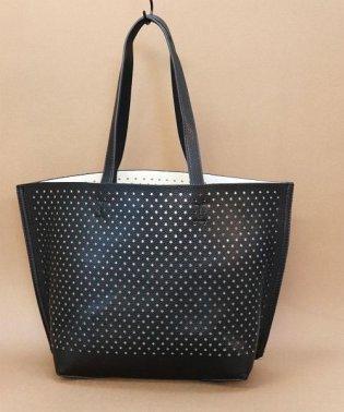 【3way】星パターンのパンチングハンドバッグ/ショルダーバッグ