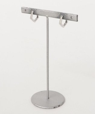 【silver925】小ぶり5角形フープピアス