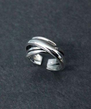 【silver925】連なるワイドリング