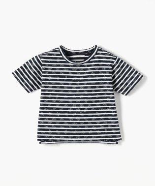 SOULEIADO コットンボーダーTシャツ