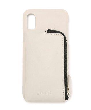 A SCENE/エーシーン/レザーポケット付き iPhone CASE X/XS