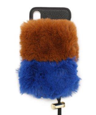 A SCENE/エーシーン/ 2-layer fur case(iphoneX/Xsサイズ)