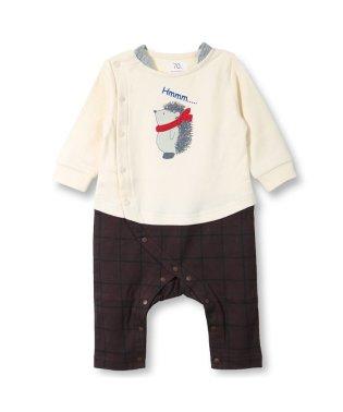 はりねずみプリント長袖カバーオール(70~80cm)