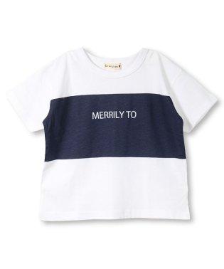 【プチプラ】切り替えプリント半袖Tシャツ(90~150cm)
