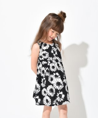 【プチプラ】ひまわり柄サンドレス(90~150cm)