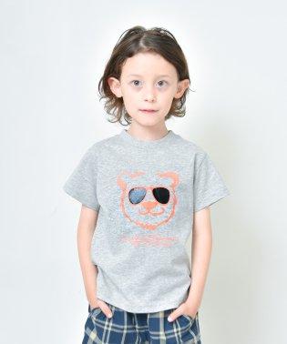 【プチプラ】サングラスくま半袖Tシャツ(90~140cm)