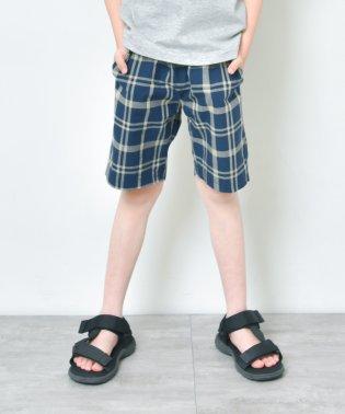 【プチプラ】チェック柄ショートパンツ(90~140cm)