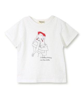 【プチプラ】女の子プリント半袖Tシャツ(90~140cm)