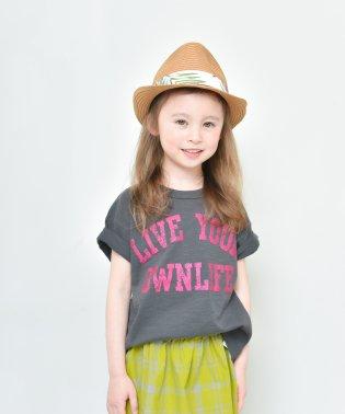 【プチプラ】グリッターロゴ半袖Tシャツ(90~140cm)