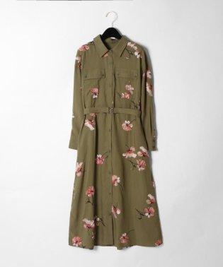 【予約】刺繍アーミーシャツワンピース