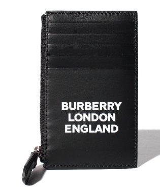 【BURBERRY】Logo print ジップカードケース