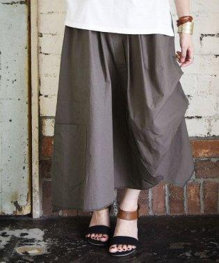 変形アシメデザインコットンロングスカート