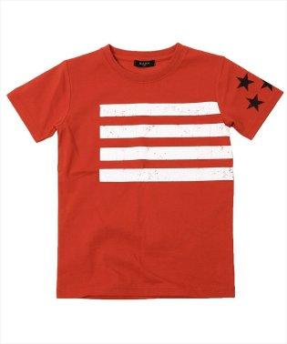 ラインスタープリント半袖Tシャツ