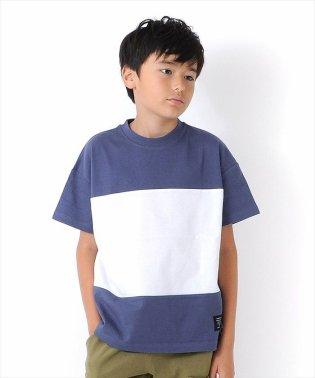 ドロップショルダーパネル切替半袖Tシャツ