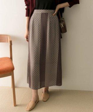 ヴィンテージ風パネルプリントスカート