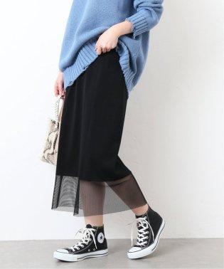 《WEB限定》JS+eメッシュドッキングスカート◆