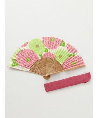 【カヤ】和の香り 菊紙扇子 袋付き 7HJP9203