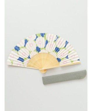 【カヤ】和の香り ポピー紙扇子 袋付き 7HJP9204