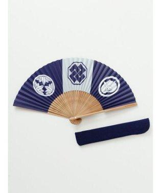 【カヤ】和の香り 紳士用紙扇子 袋付き 7HJP9210