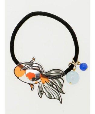 【カヤ】透飾り 金魚ヘアゴム 7YKZ9217