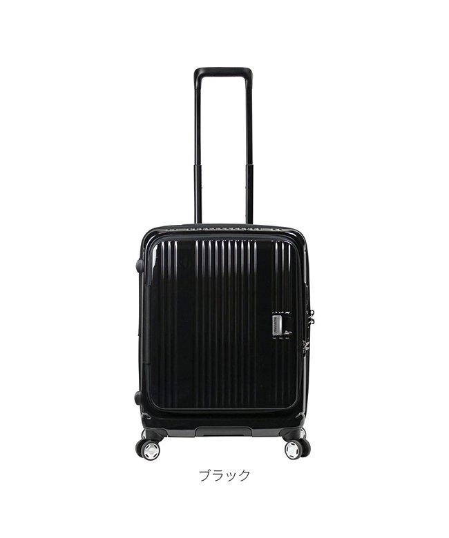 (BERMAS/バーマス)バーマス ユーロシティ スーツケース フロントオープン Mサイズ/55L USBポート BERMAS 60291/ユニセックス ブラック