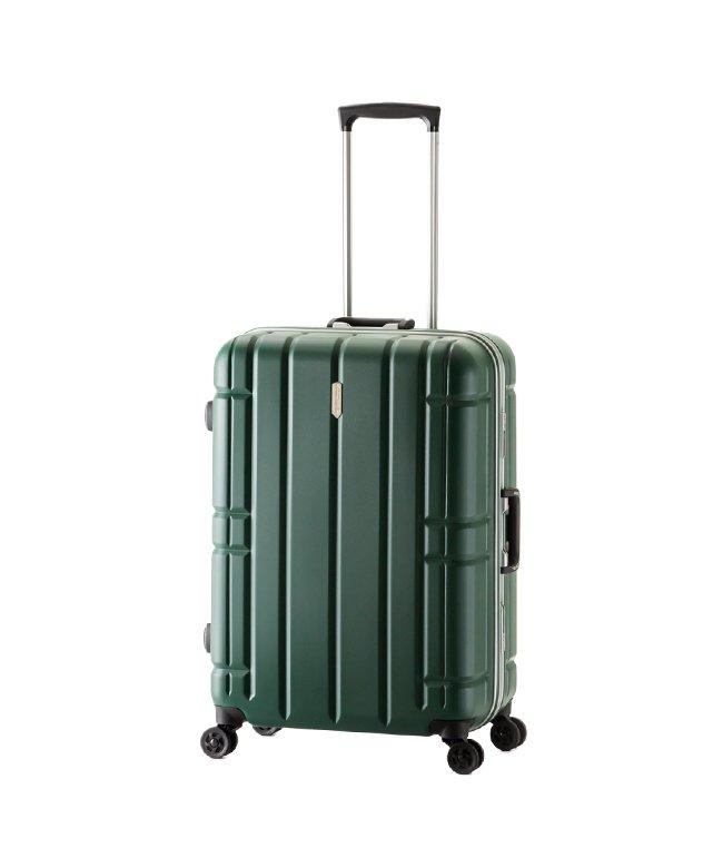 (ASIA LUGGAGE/アジアラゲージ)アジアラゲージ スーツケース Lサイズ フレーム アリマックス 大容量 大型 軽量 AliMaxG 74L MF−5016/ユニセックス グリーン